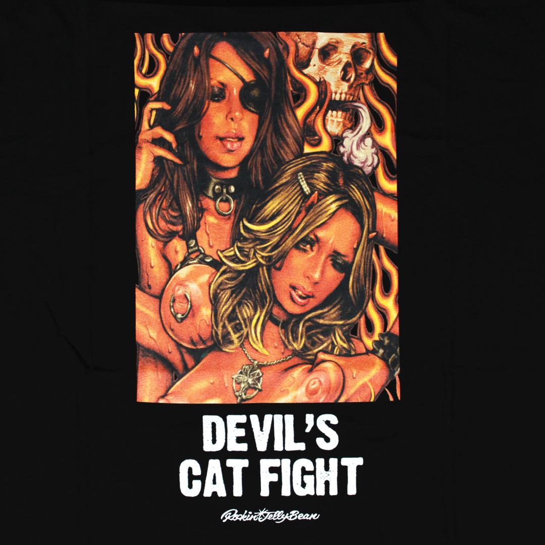 DEVIL'S CAT FIGHT|Tシャツ|ロッキンジェリービーン|EROSTIKA